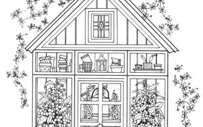 Free House Coloring Printable Page