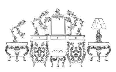 Free Vintage Furniture Coloring