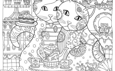Cute and Free Cat Coloring