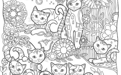 FREE Cute Cats Coloring Page