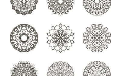 Free Floral Ornaments Coloring