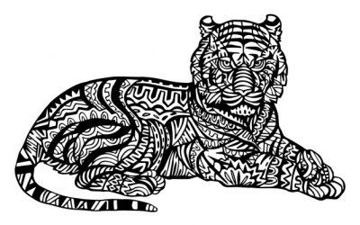 FREE Tiger Pattern Coloring