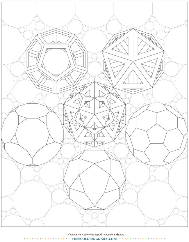 Geometric Shapes Free Coloring