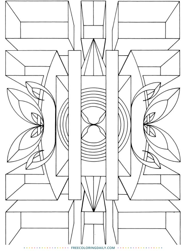 Free Geometric Design Coloring