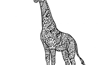 Free Coloring Page of a Giraffe