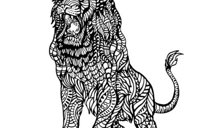 Free Ornamental Lion Coloring