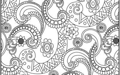 FREE Paisley Pattern Coloring