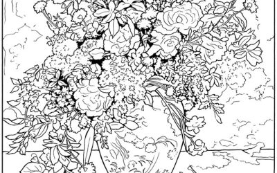 Free Renior Floral Coloring