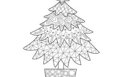Free Printable Christmas Tree Coloring Page