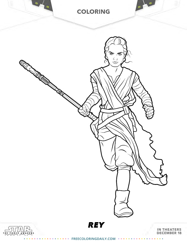 Free Star Wars Rey Coloring