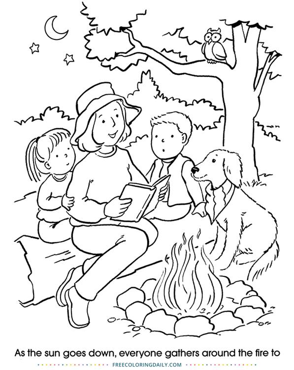 Free Camping Fun Coloring