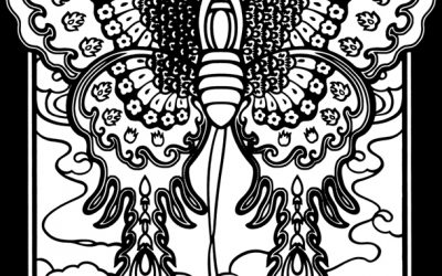 Stained Glass Butterfly Free Coloring