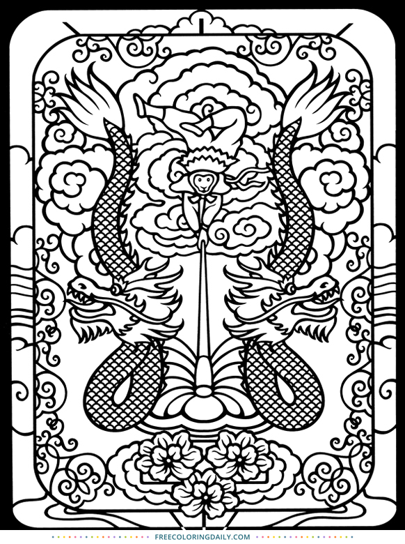 Free Fantastic Coloring Page