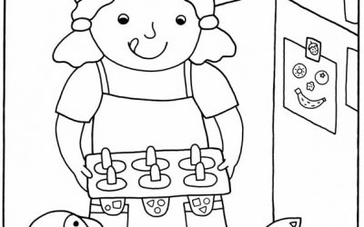 Free Kids Cook Coloring