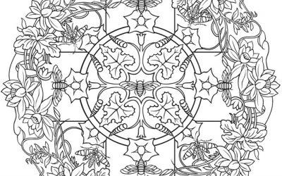 Free Flower Mandala Coloring
