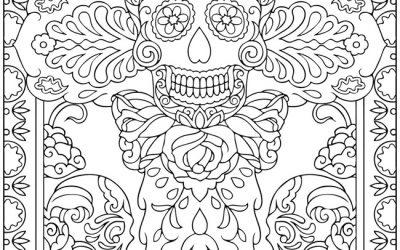 Free Dia de Muertos Coloring