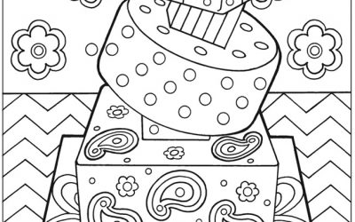 Free Birthday Cake Coloring Page