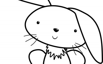 Cute Bunny Free Coloring Page
