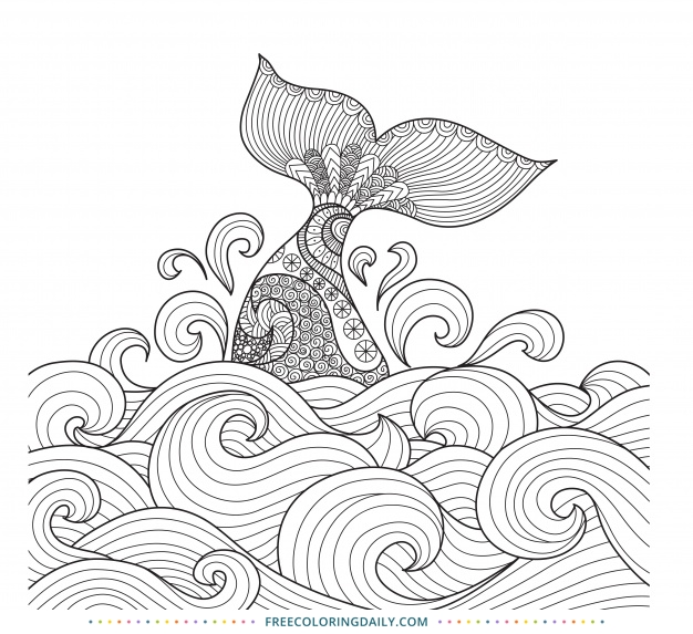 Free Mermaid Coloring Page