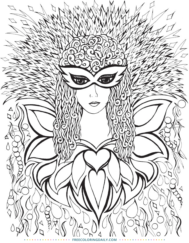 Free Fantastic Fashion Coloring