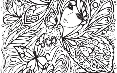 Butterfly Girl Free Coloring