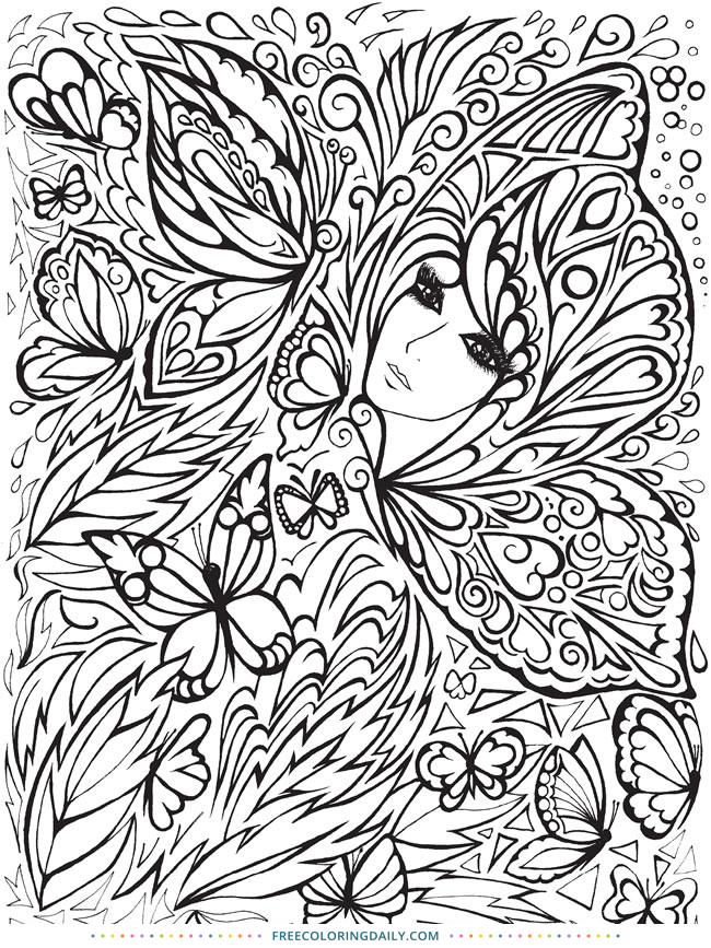 Free Butterfly Fairy Coloring