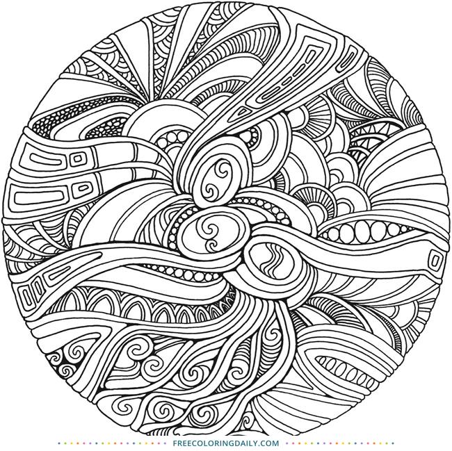 Free Circular Zentangle Coloring