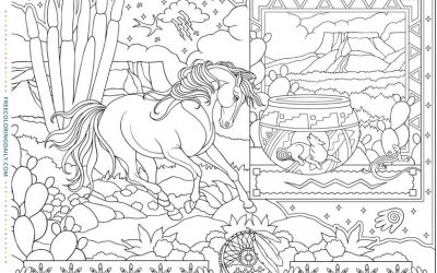 Dreamy Horse Free Coloring Page