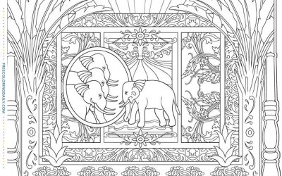 Free Elephant Egypt Coloring