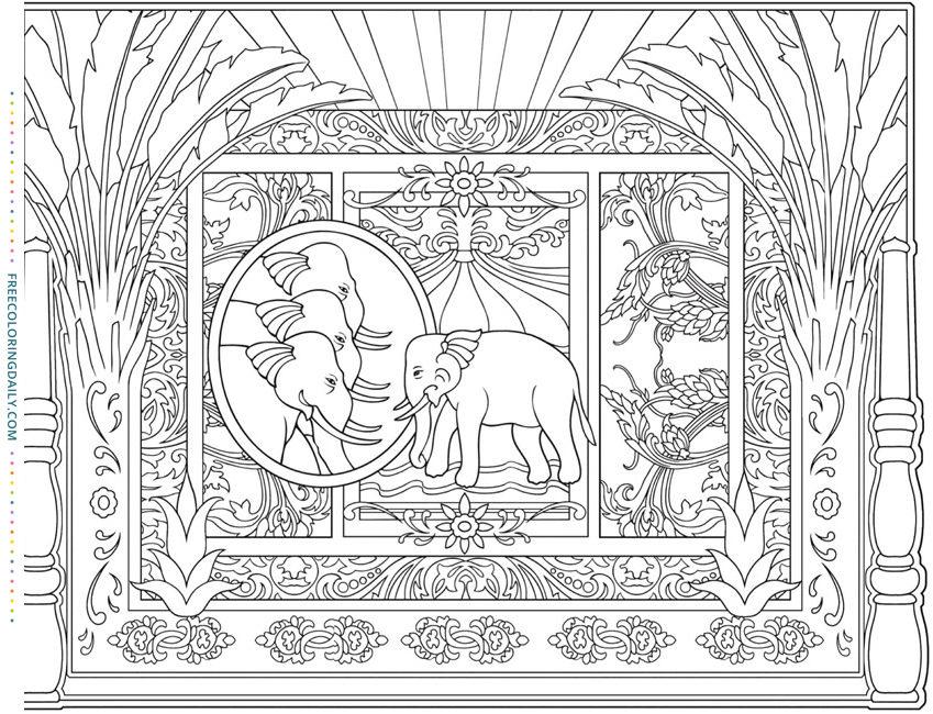 Free Elephant Egypt Coloring