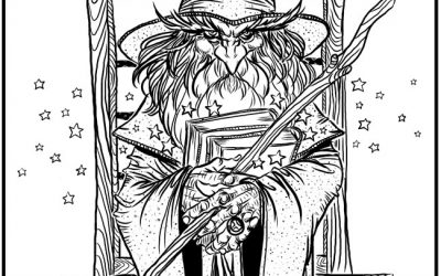 Free Wizard Coloring