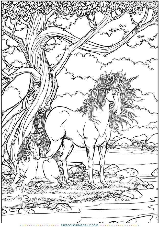 Free Unicorn Coloring Sheet | Free Coloring Daily