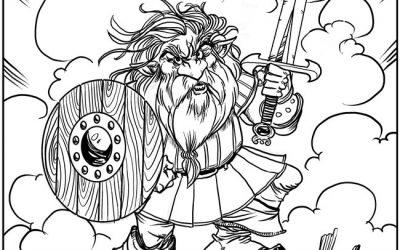 Free Viking Warrior Coloring