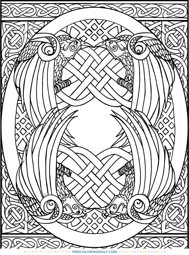 Free Celtic Coloring Design