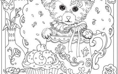 Free Teapot Kitten Coloring
