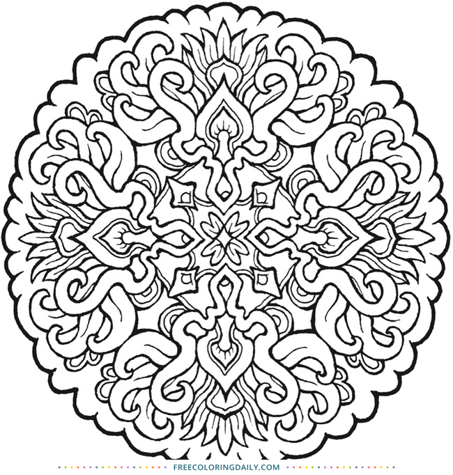 Amazing Free Mandala Coloring Sheet