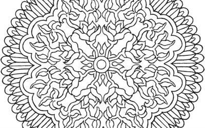 Free Mandala Pattern Coloring Page