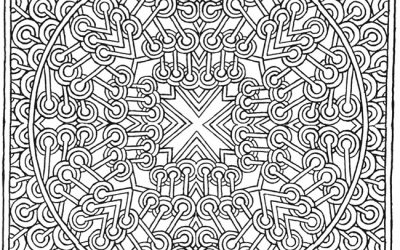 Free Mosaic Coloring Page
