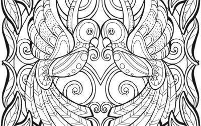 Tropical Jungle Scene Free Coloring Page