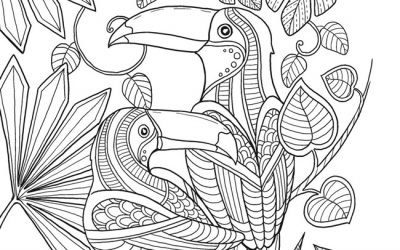 Free Printable Tropical Coloring