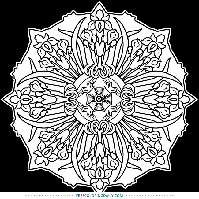 Free Patterned Coloring Page