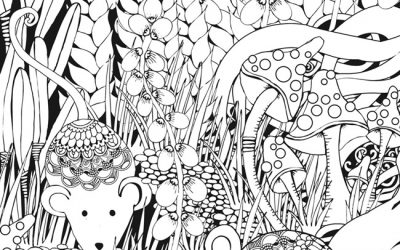 Patterned Mice Free Coloring Page