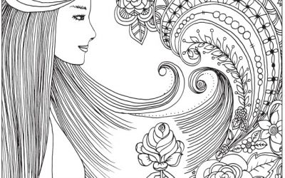 Free Coloring – Whimsical Woman