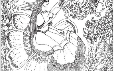 Lovely Flower Girl Free Coloring Printable