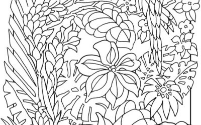 Tropical Scene Free Coloring