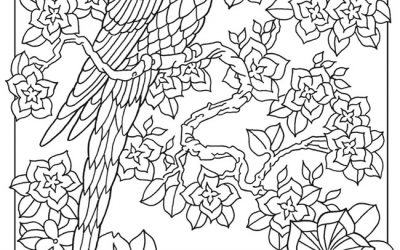 Free Jungle Bird Coloring Page