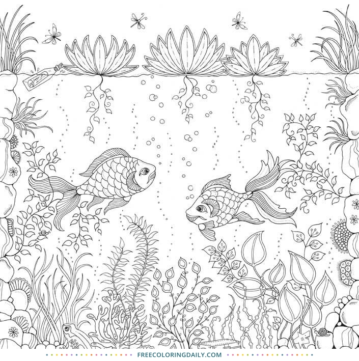 Free Under the Sea Coloring page