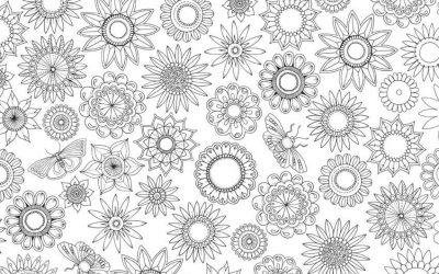Free Floral Circles Coloring