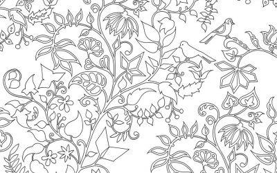 Free Foliage Coloring Page