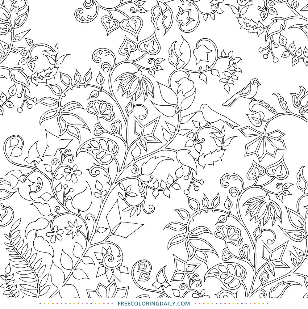 Free Foliage Coloring Page